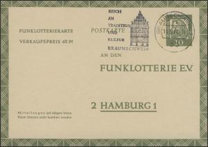 Funklotterie FP 9 Dürer 10 Pf. Braunschweig/Tradition und Kultur Rathaus 14.5.62