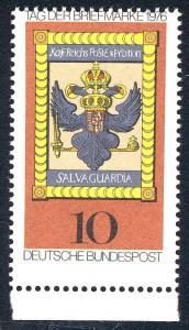 903 Tag der Briefmarke 1976 - waagerechte Verzähnung oben im Markenbild, **