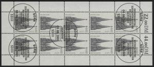 2206 SWK 440 Pf/2,25 Euro - 10er-Bogen gemischt ** / ESSt Bonn