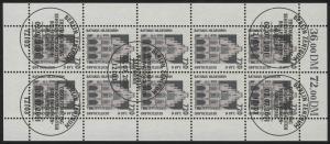 2197 SWK 720 Pf/3,68 Euro  - 10er-Bogen gemischt ** / ESSt Berlin