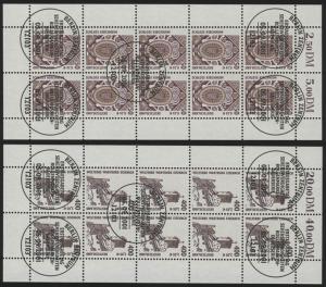 2210-2211 SWK 50 Pf / 400 Pf - 10er-Bogen-Satz gemischt **/ESSt Berlin