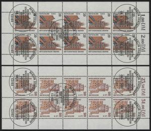 2224-2225 SWK 20 Pf / 510 Pf - 10er-Bogen-Satz, gemischt **/ESSt Berlin