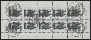 1934 SWK 100 Pf Goethe/Schiller - 10er-Bogen gemischt ** / ESSt Berlin