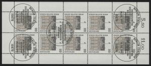1935 SWK 110 Pf Schloss Bellevue - 10er-Bogen gemischt ** / ESSt Berlin