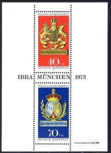 Block 9 IBRA 1973 - Verzähnung rechts bis an die Inschrift, postfrisch