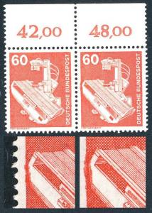 990 IuT Röntgengerät 60 Pf. - Farbverschmierung linker Bildrand, OR-Paar **