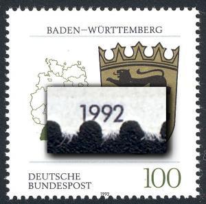 1586 Baden-Württemberg - Verzähnung in der Jahreszahl, **