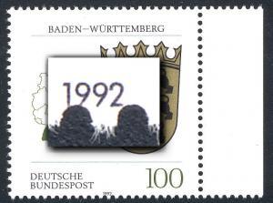 1586 Baden-Württemberg - Verzähnung bis in die Jahreszahl, **