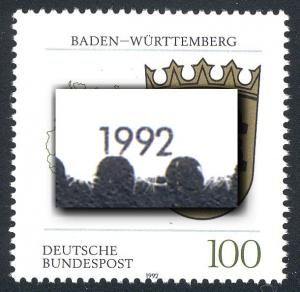 1586 Baden-Württemberg - leichte Verzähnung bis an die Jahreszahl, **