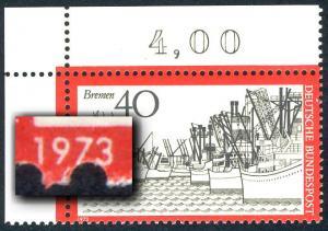 789 Bremer Hafen - Ecke oben links: Verzähnung an der Jahreszahl, **