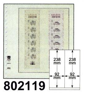 LINDNER-T-Blanko-Blätter 802 119 für Rollenmarken - 10er-Packung