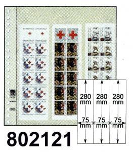 LINDNER-T-Blanko-Blätter 802 121 für Rollenmarken - 10er-Packung