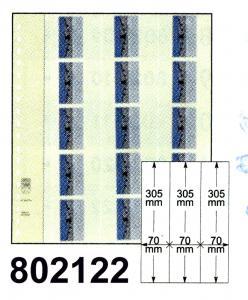 LINDNER-T-Blanko-Blätter 802 122 für Rollenmarken - 10er-Packung