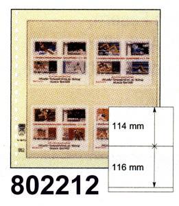 LINDNER-T-Blanko-Blätter 802 212 - 10er-Packung