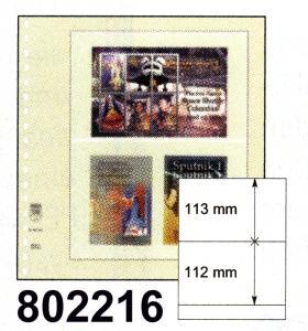 LINDNER-T-Blanko-Blätter 802 216 (zwei Streifen) - 10er-Packung