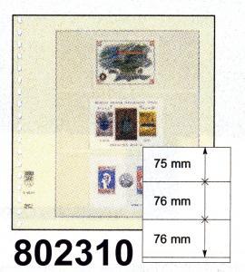 LINDNER-T-Blanko-Blätter 802 310 (drei Streifen) - 10er-Packung