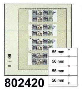 LINDNER-T-Blanko-Blätter 802 420 (vier Streifen) - 10er-Packung