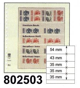 LINDNER-T-Blanko-Blätter 802 503 - 10er-Packung