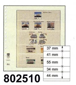 LINDNER-T-Blanko-Blätter 802 510 mit fünf Streifen - 10er-Packung