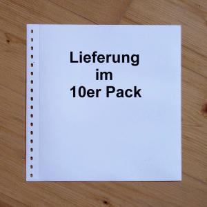 LINDNER Omnia Einsteckblatt 09 weiß 1 Streifen - 10er-Packung