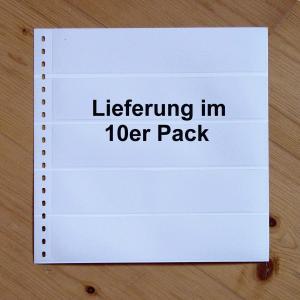LINDNER Omnia Einsteckblatt 013 weiß 5 Streifen - 10er-Packung