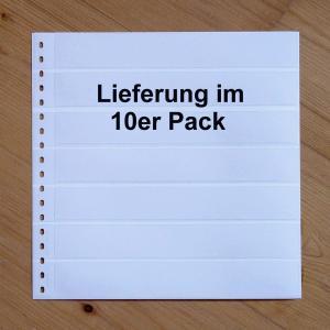 LINDNER Omnia Einsteckblatt 015 weiß 7 Streifen - 10er-Packung