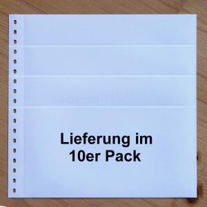LINDNER Omnia Einsteckblatt 0161 weiß 3x 43 + 1x 141 mm - 10er-Packung