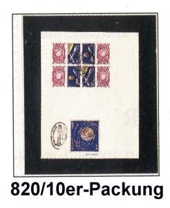 LINDNER Klarsichthülle 820 mit 1 Tasche für Ganzsachen - 10er-Packung