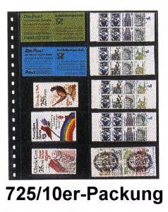 LINDNER 725 Klarsichthülle für 10 Heftchen 120x53 mm - 10er-Packung