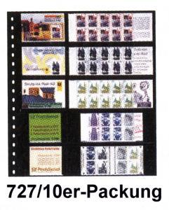 LINDNER 727 Klarsichthülle für 5 Heftchen 78x50 und 160x50 mm - 10er-Packung