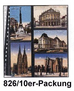LINDNER 826 Klarsichthülle für 5 bzw. 10 Postkarten 95x143 mm - 10er-Packung