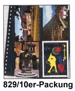 LINDNER 829 Klarsichthülle für 8 mod. Postkarten 114x146 mm - 10er-Packung