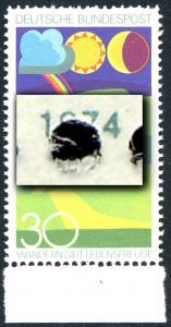 808 Wandern 1974 - Verzähnung durch die Jahreszahl, Unterrandstück, **