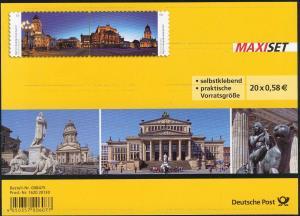 FB 26 Gendarmenmarkt Berlin, Folienblatt 10x 2987-2988, **