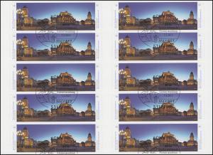 FB 26 Gendarmenmarkt Berlin, Folienblatt 10x2987-2988, EV-O Bonn 7.2.2014