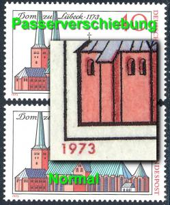 779 Dom zu Lübeck 1973 - Passerverschiebung braun nach links, **