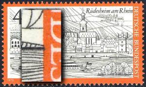 762 Rüdesheim - Passerverschiebung der Farbe Schwarz nach rechts, **