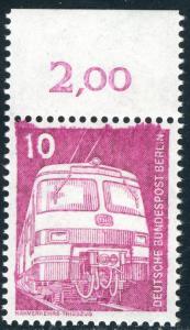 495 IuT 10 Pf Triebzug - Oberrandstück mit markanter Farbverschmierung oben, **