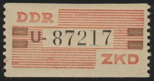VIII Dienst-B, Billet Buchstabe U, rot/orangebraun/schwarz, ** postfrisch