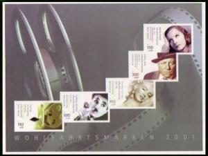 Heftchenblatt aus Markenheftchen 46 Schauspieler 2001, postfrisch **
