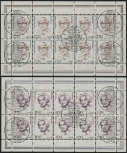 2158-59 Frauen 220/300 Pf - 10er-Bogen-Satz gemischt ** / ESSt Berlin
