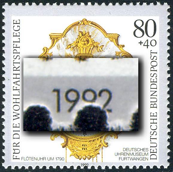 1633 Wofa 80 Pf: Verzähnung unten in der Jahreszahl, ** 0