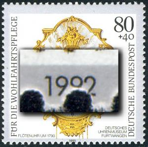 1633 Wofa 80 Pf: Verzähnung unten in der Jahreszahl, **