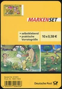 FB 28 Janosch: Ostern, Folienblatt-Dummy aus Plastik mit runden Ecken