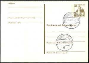 P 111 - BuS 30/30 Pf mit Strichlinien, VS-O Frankfurt PLZ 6