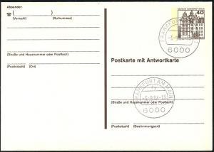 P 124 II - BuS 40/40 Pf Letterset VS-O Frankfurt/Main