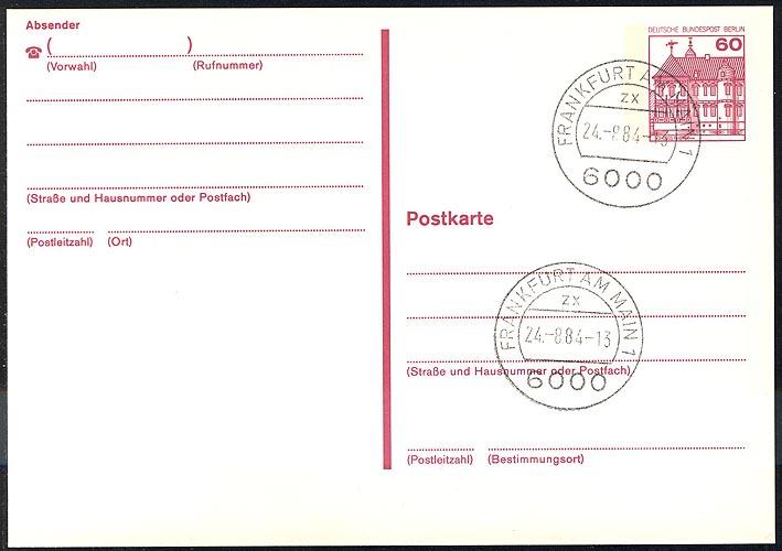 P 122 II - BuS 60 Pf Letterset VS-O Frankfurt/Main 0
