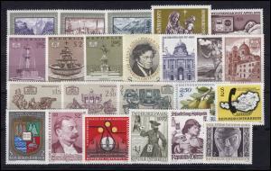 1381-1409 Österreich-Jahrgang 1972 komplett, postfrisch