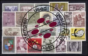 1381-1409 Österreich-Jahrgang 1972 komplett, gestempelt