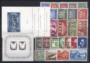 443-468 Schweiz-Jahrgang 1945 komplett, postfrisch **